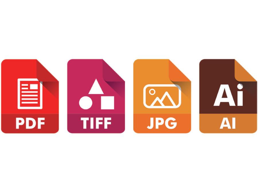 PDF, TIFF, JPG, AI